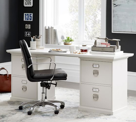 Bedford Rectangular Desk, Antique White