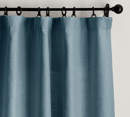 Belgian Linen Curtain Made with Libeco™ Linen - Riviera Blue