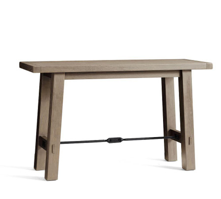 Benchwright Bar Height Dining Table, Gray Wash