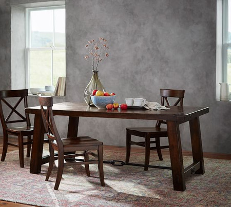 Benchwright Dining Table, Rustic Mahogany