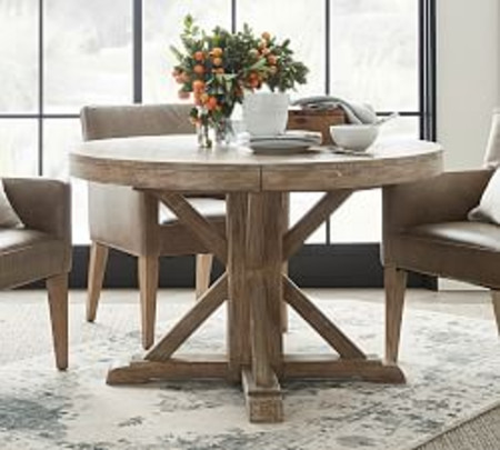 Benchwright Extending Pedestal Table, Seadrift