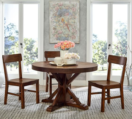 Benchwright Extending Pedestal Dining Table