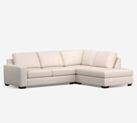 Big Sur Square Arm Upholstered 3-Piece Bumper Sectional
