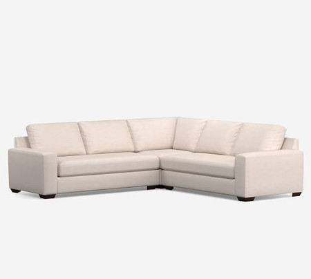 Big Sur Square Arm Upholstered 3-Piece L-Shaped Sectional