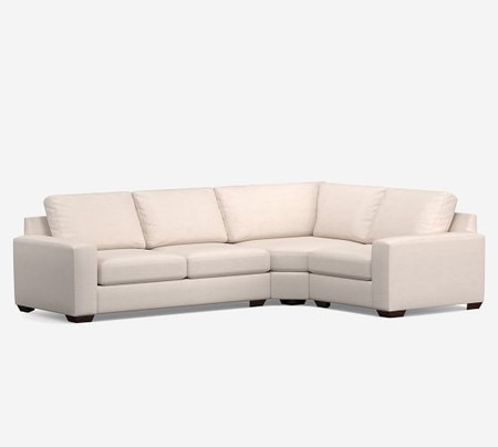 Big Sur Square Arm Upholstered 3-Piece Wedge Sectional