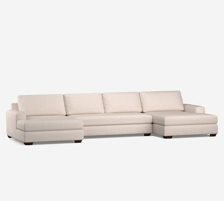 Big Sur Square Arm Upholstered U-Double Chaise Sectional
