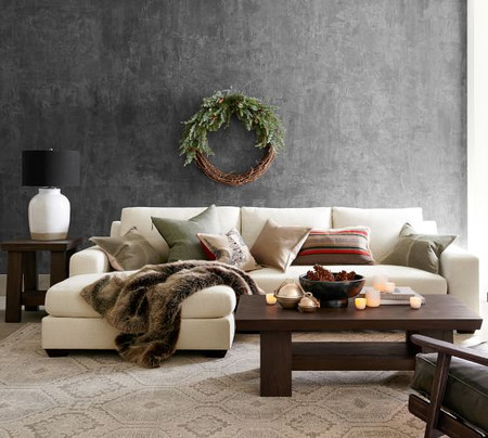 Big Sur Square Arm Upholstered Sofa with Double Chaise Sectional
