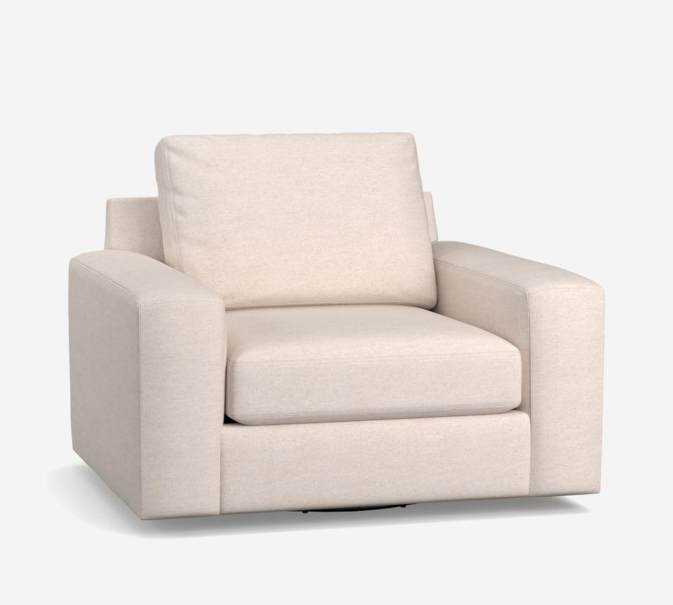 Big Sur Square Arm Upholstered Swivel Armchair