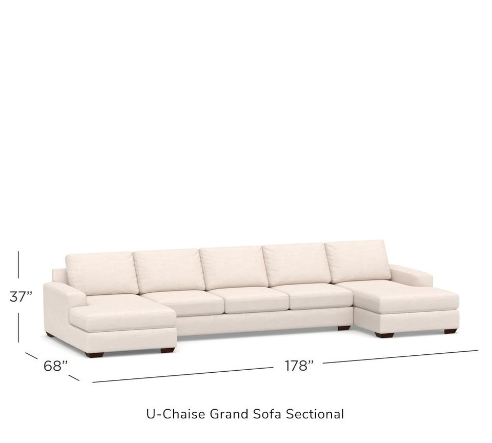 Big Sur Square Arm Upholstered U-Chaise Sectional
