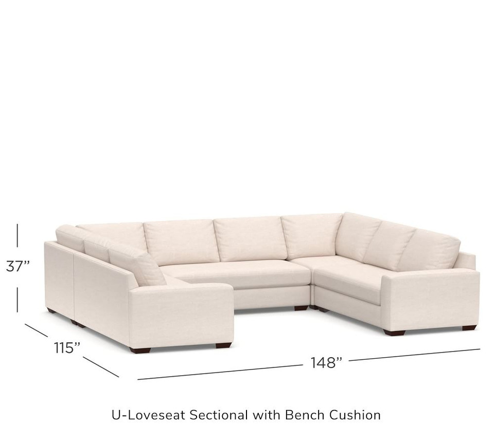 Big Sur Square Arm Upholstered U-Sofa Sectional