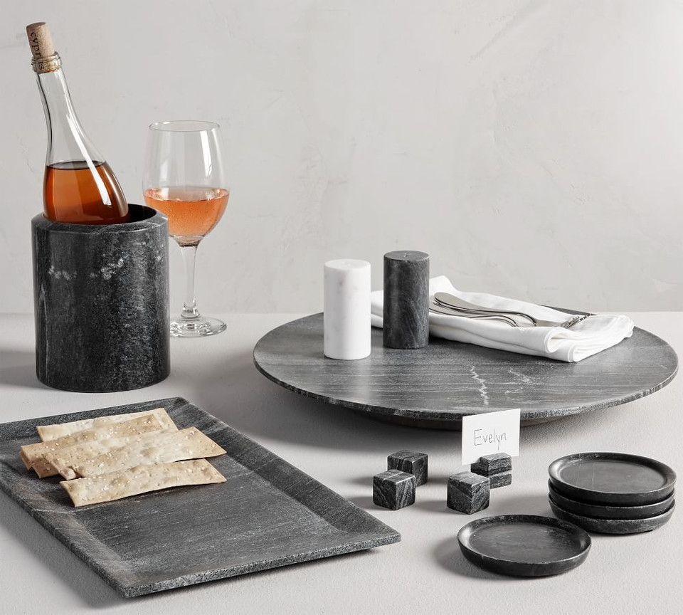 Black Marble Lazy Susan