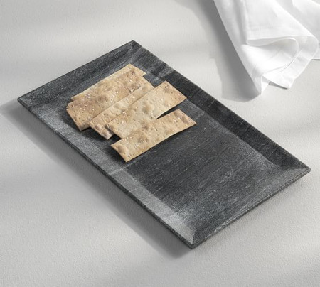 Black Marble Rectangular Platter