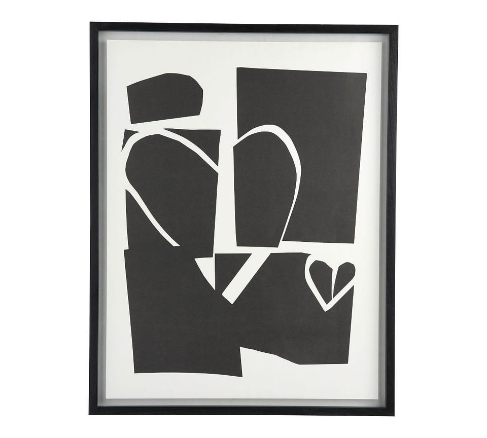 Black Amp White Heart Collage Wall Art Pottery Barn Canada