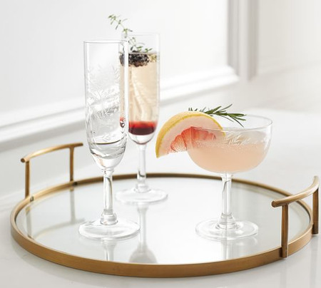 Bleecker Glass Bar Tray
