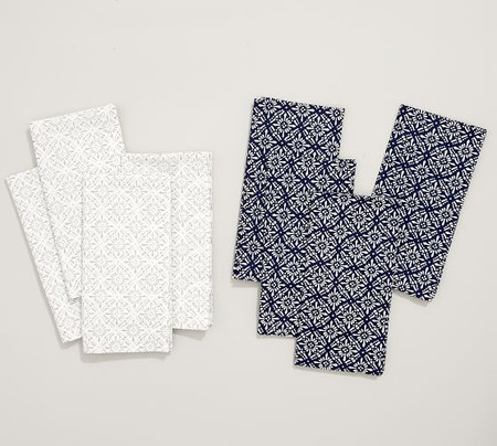 Block Print Diamond Trellis Napkin, Set of 4