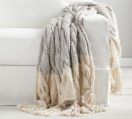 Bluma Chunky Knit Tassel Throw
