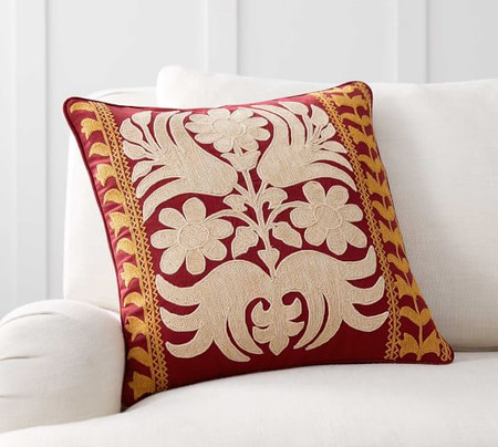 Bremen Embroidered Pillow Cover