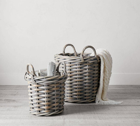 Briar Thick Weave Tote Basket