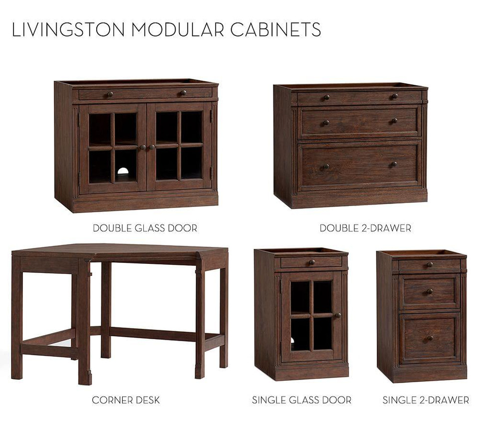 Build Your Own Modular- Livingston Collection, Brown Wash