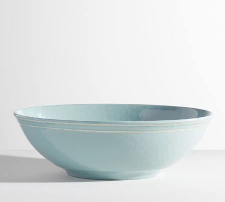 Cabana Melamine Oval Serve Bowl - Turquoise