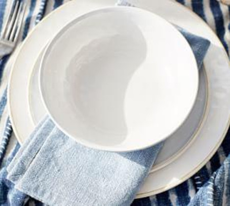 Cabana Melamine Salad Plate, Set of 4 - Stone