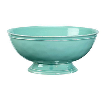 Cambria Footed Serve Bowl - Turquoise