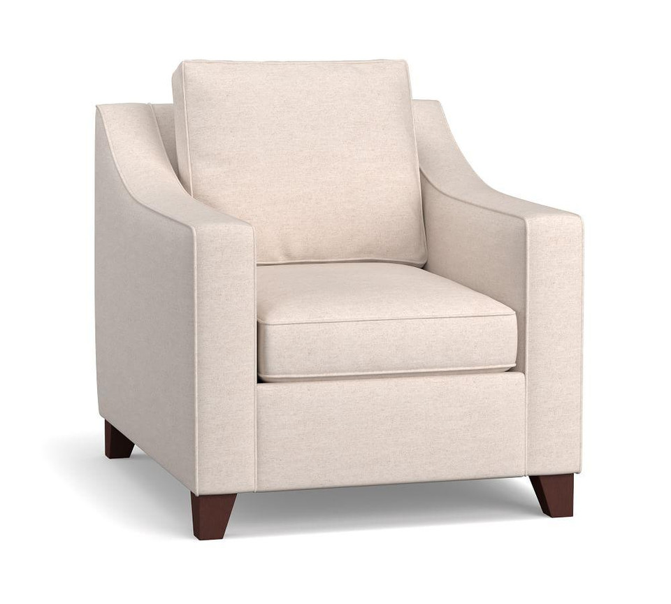 Cameron Slope Arm Deep Seat Upholstered Armchair | Pottery ...