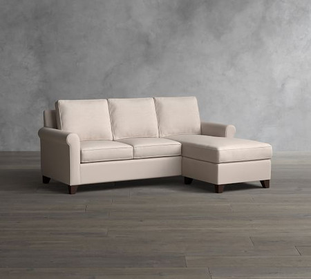 Cameron Roll Arm Upholstered Sofa with Reversible Chaise Sectional