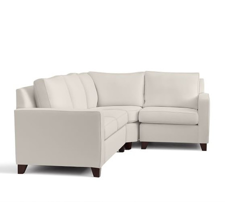 Cameron Square Arm Upholstered 3-Piece Sectional with Wedge