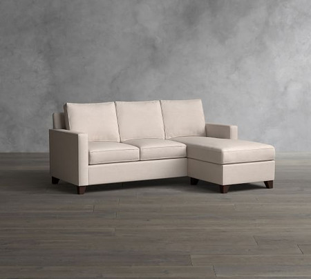 Cameron Square Arm Upholstered Sofa with Reversible Chaise Sectional
