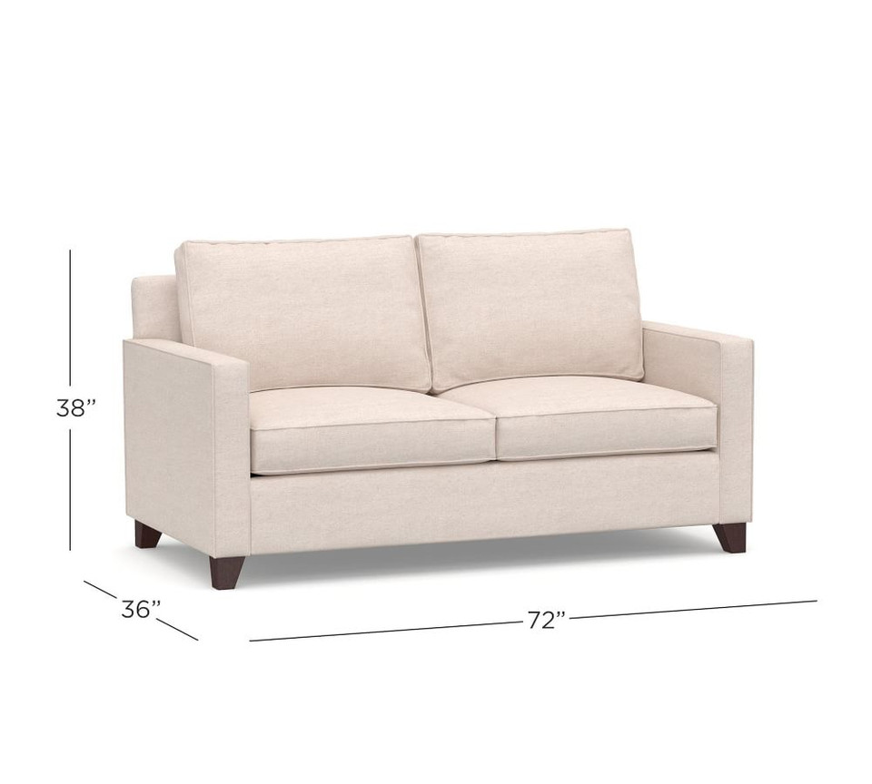 Cameron Square Arm Upholstered Sleeper Sofa with Air Topper