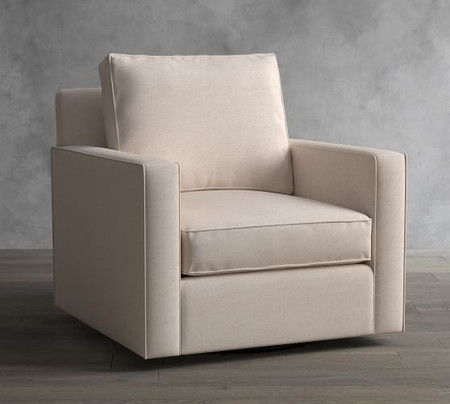 Cameron Square Arm Upholstered Swivel Armchair