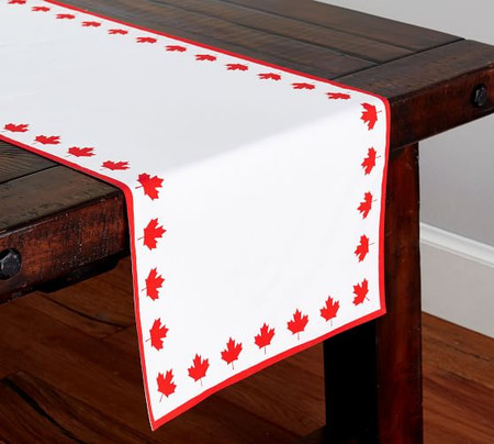 Canadian Flag Table Runner