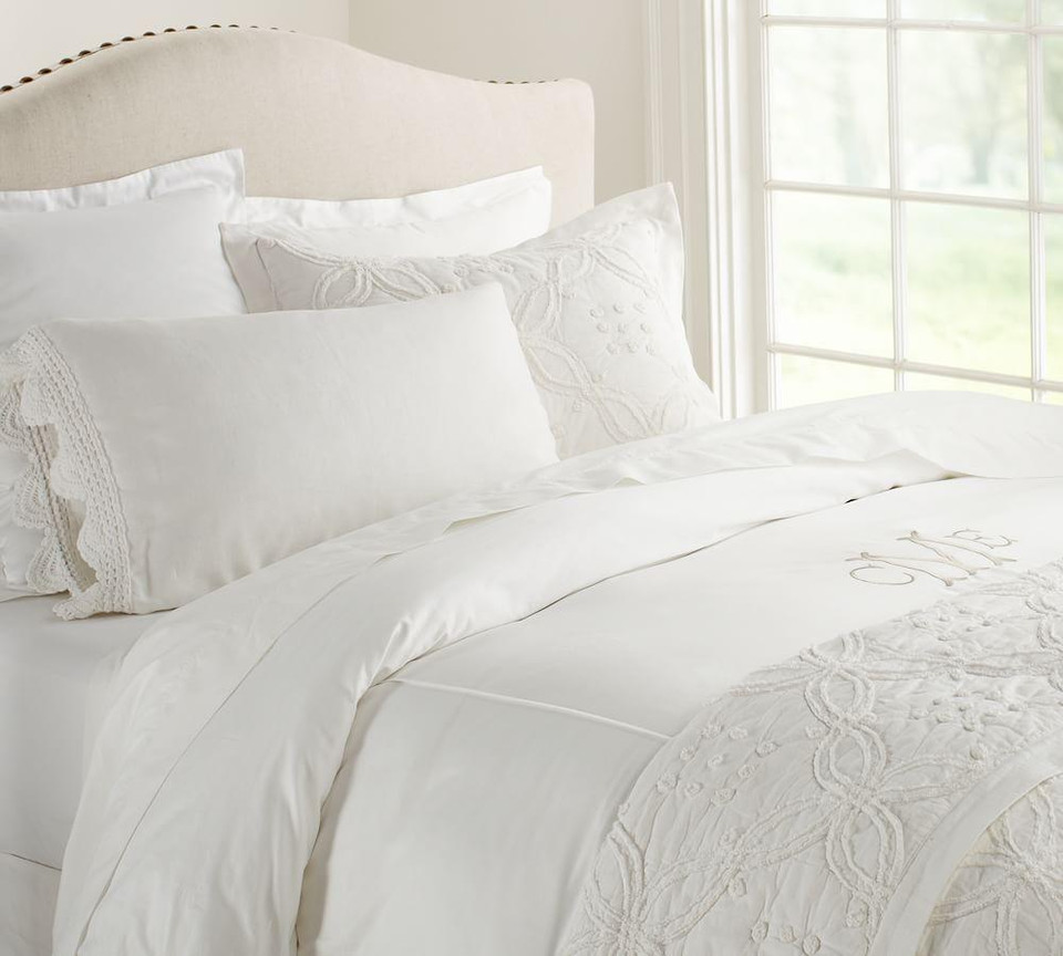 Candlewick Cotton Quilt & Shams - White