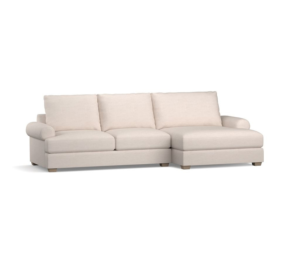 Canyon Roll Arm Upholstered Double Chaise Sectional