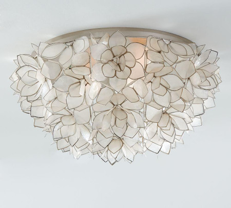 Capiz Oversized Flush Mount