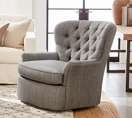 Cardiff Upholstered Swivel Armchair