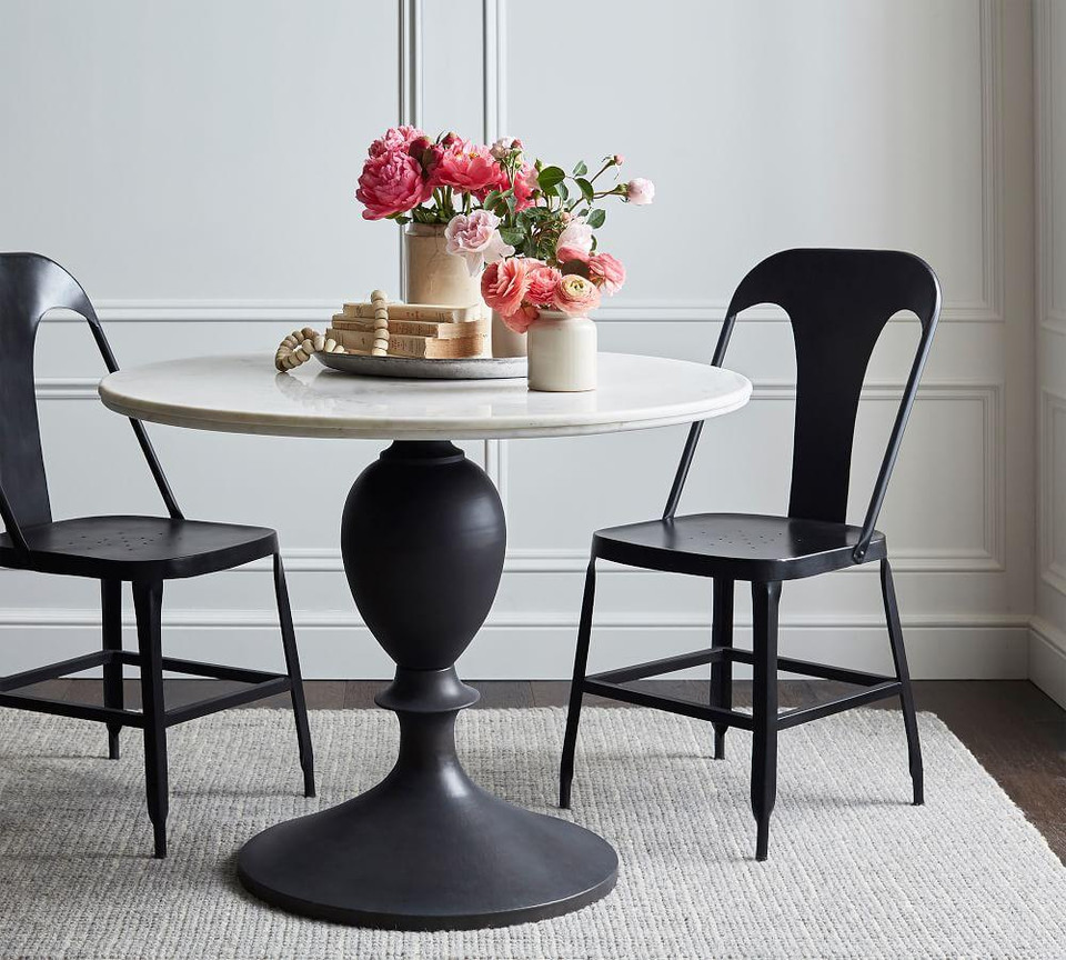 Chapman Round Marble Dining Table Pottery Barn Canada