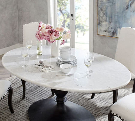 Chapman Marble Oval Dining Table Pottery Barn Canada