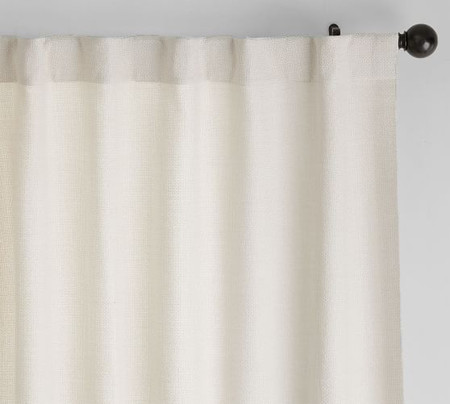 Chateau Basketweave Curtain - Ivory