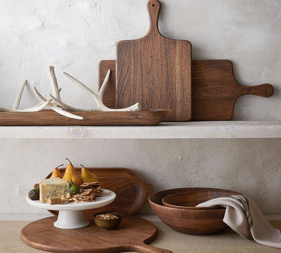 Chateau Acacia Wood Salad Bowls