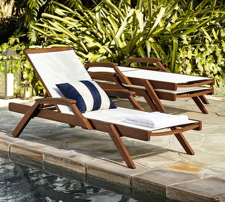 Chatham Mesh Stacking Chaise Lounge, Set of 2, Honey