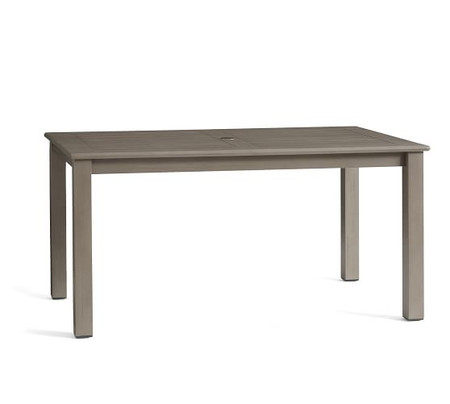 Chatham Fixed Rectangular Dining Table, Gray