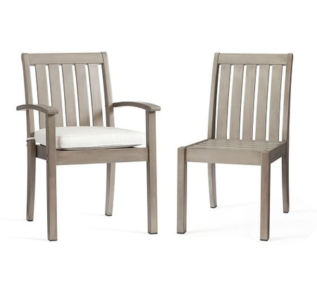 Chatham Stacking Dining & Armchairs, Gray