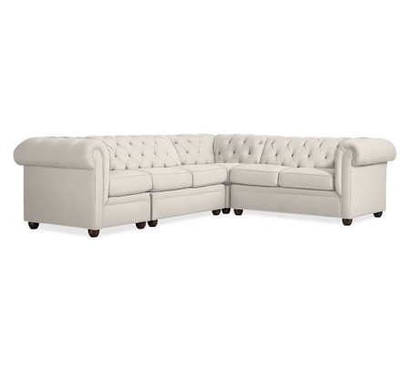 Chesterfield Upholstered 4-Piece Sectional