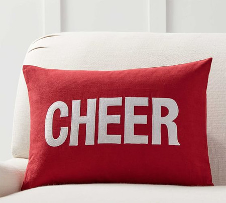 Christmas Cheer Applique Pillow Cover