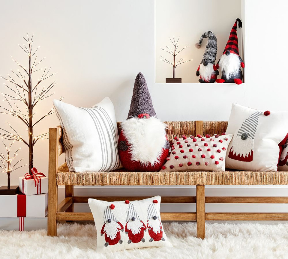 Christmas Gnomes Pillow Cover Pottery Barn Canada