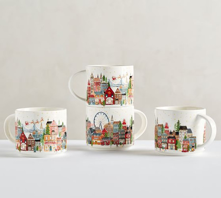 Christmas in the City Stoneware Mugs