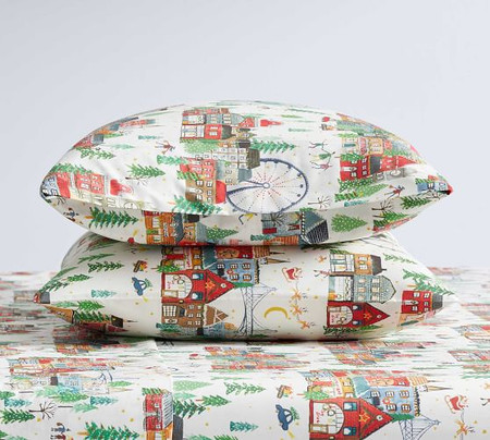 Christmas in the City Organic Cotton Pillowcases - Set of 2