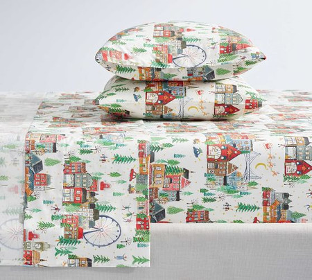 Christmas in the City Organic Cotton Sheet Set